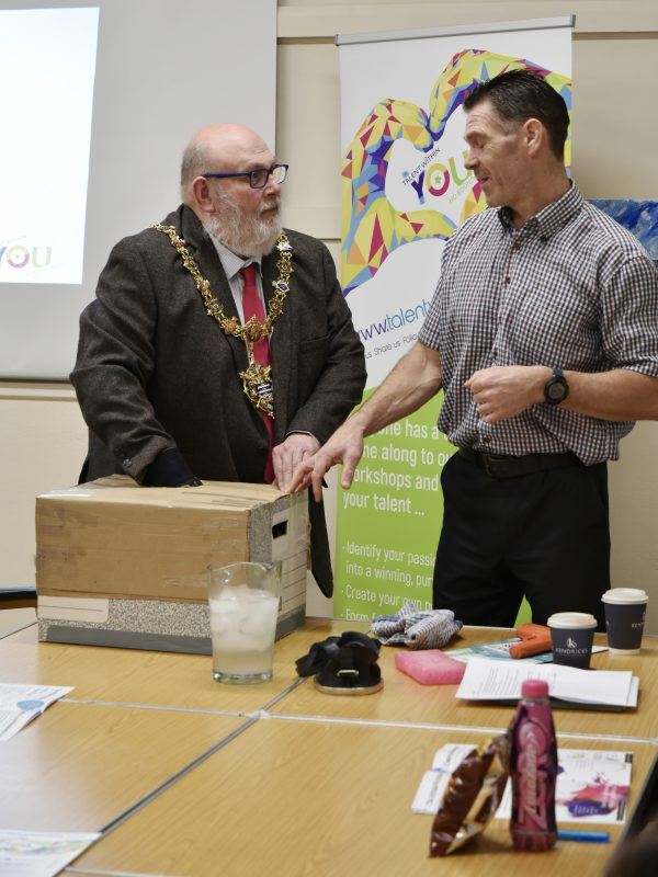 Andy Thom and Mayor of Worthing